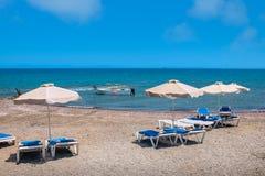 Aegean Sea coast. Rhodes, Greece Royalty Free Stock Image