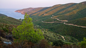 Aegean sea coast at sunrise Royalty Free Stock Images