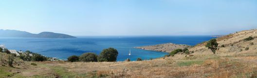 Aegean sea coastline Royalty Free Stock Images