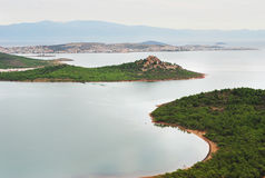 Aegean sea coastline in the morning Stock Photos