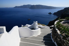 Aegean sea cycladic volcanic island of Santorini. Royalty Free Stock Photography