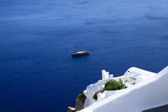 Aegean sea cycladic volcanic island of Santorini. Stock Photo