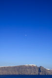 Aegean sea cycladic volcanic island of Santorini. stock images