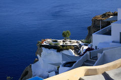 Aegean sea cycladic volcanic island of Santorini. Royalty Free Stock Image