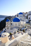 Aegean sea cycladic volcanic island of Santorini. Stock Photos