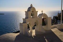 Aegean sea cycladic volcanic island of Santorini. Royalty Free Stock Image