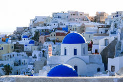 Aegean sea cycladic volcanic island of Santorini. Royalty Free Stock Images