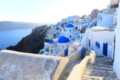 Aegean sea cycladic volcanic island of Santorini. Stock Photography