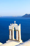 Aegean sea cycladic volcanic island of Santorini. Royalty Free Stock Photo