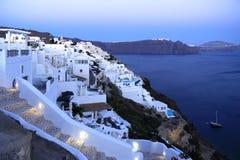 Aegean sea cycladic volcanic island of Santorini. Royalty Free Stock Photography