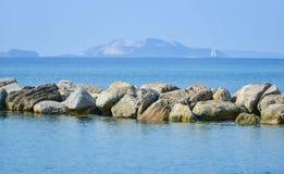 Aegean sea in Greece, Kardamaina resort Royalty Free Stock Images