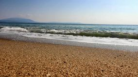 Aegean Sea in Greece stock video