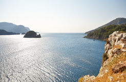 Aegean sea with island Royalty Free Stock Photo