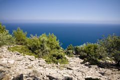 Aegean sea landscape Royalty Free Stock Images