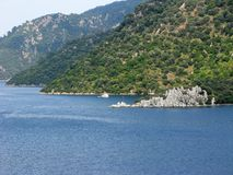 Aegean sea landscape turkey Stock Photos
