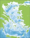 Aegean Sea map Royalty Free Stock Image