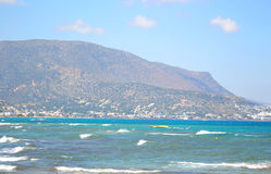 Aegean Sea and mountains. Royalty Free Stock Photography