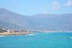 Aegean Sea and mountains. Stock Photos