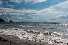 Aegean Sea. Panorama with dramatic sky Royalty Free Stock Photos