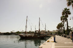Aegean Sea pier Royalty Free Stock Image