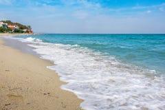 Aegean Sea. Pieria, Greece Royalty Free Stock Images