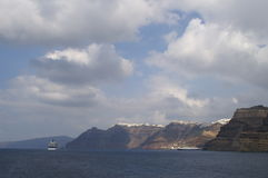 Aegean sea, Santorini island Royalty Free Stock Images