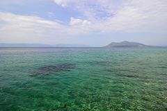 Aegean sea and the sky. Aegean sea in Greece and the sky Royalty Free Stock Images