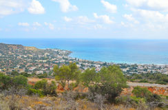 Aegean Sea and Stalida town. Stock Photography