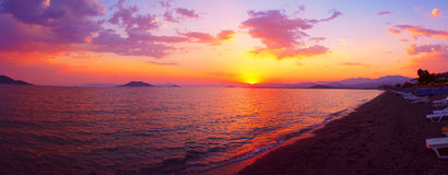 The Aegean sea sunset Royalty Free Stock Photography