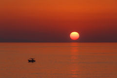 Aegean sea at sunset Royalty Free Stock Images