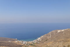 Aegean sea view from Isternia Stock Photos