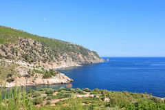 Aegean sea, view from Livadi Beach Royalty Free Stock Photos