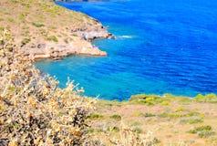 Aegean sea view. A view of the mediterranean / aegean sea in greece stock image