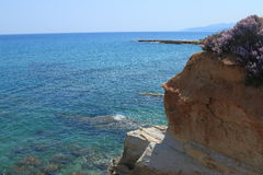 Cretan sea. View of the Cretan sea near Hersonissos. Crete, Greece Royalty Free Stock Photos