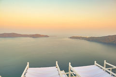 Aegean Sea. View of Aegean Sea from Santorini Island royalty free stock image