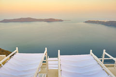 Aegean Sea. View of Aegean Sea from Santorini Island stock photography