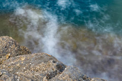 Aegean shore in Greece, Thassos island - waves and rocks Royalty Free Stock Images