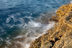 Aegean shore in Greece, Thassos island - waves and rocks Stock Photography