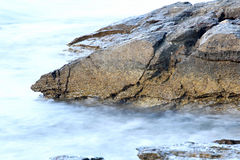 Aegean shore in Greece, Thassos island - waves and rocks Royalty Free Stock Image