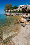 Aegean terrace Royalty Free Stock Photography