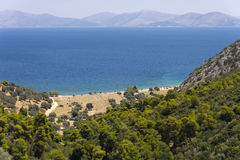 Aegeas see from the mountain Royalty Free Stock Image