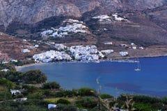 Aegiali-Dorf auf Amorgos-Insel Stockbilder