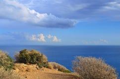Aegian-Meer, Kap Sounion, Attika, Griechenland Lizenzfreies Stockfoto