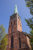 Aegidien church in Lubeck. The Saint Aegidien church in Lubeck, Germany Royalty Free Stock Photography