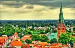 Aegidienkirche, iglesia de Aegidien del santo en Lubeck, Alemania Imagenes de archivo