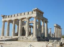 aegina古老aphaia希腊寺庙 免版税图库摄影
