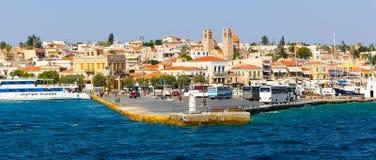 aegina archeologiczny Greece wyspy kolona miejsce Obraz Royalty Free