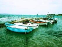 Aegina, barcos de Grecia Imagen de archivo libre de regalías