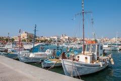 Aegina-Hafen, Griechenland Stockfotos