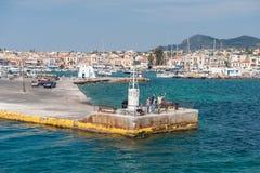 Aegina-Hafen, Griechenland Lizenzfreie Stockfotografie
